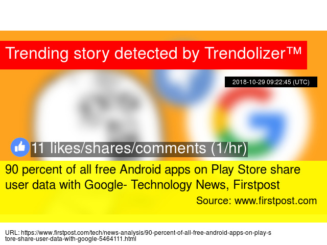 90 percent of all free Android apps on Play Store share user
