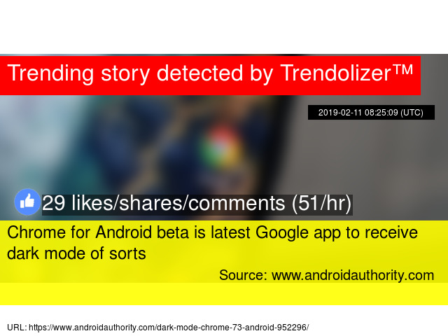Chrome for Android beta is latest Google app to receive dark