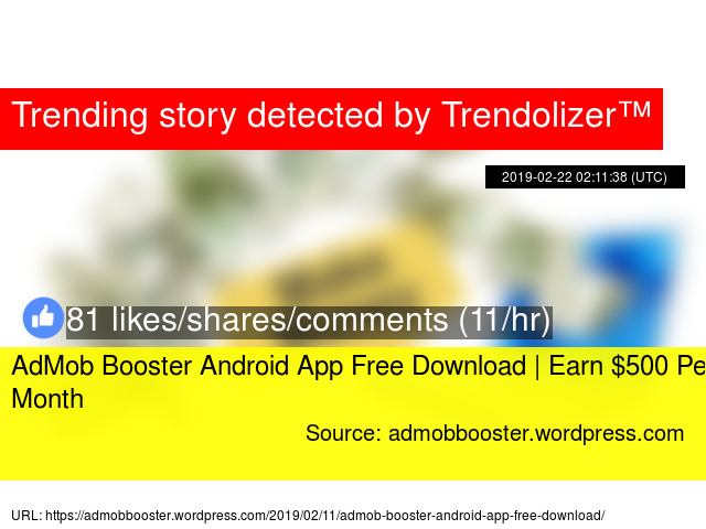 AdMob Booster Android App Free Download | Earn $500 Per Month