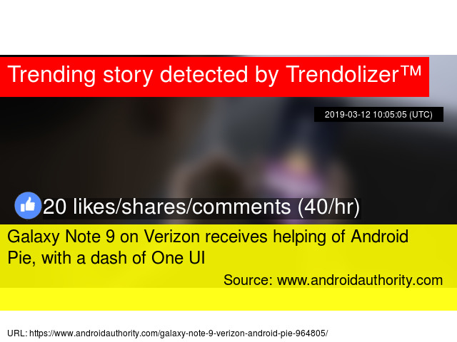 Galaxy Note 9 on Verizon receives helping of Android Pie