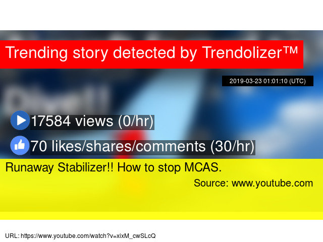 Runaway Stabilizer!! How to stop MCAS