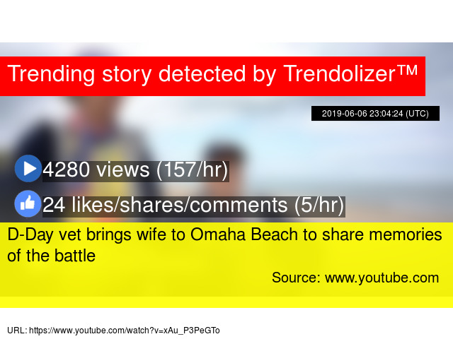 D-Day vet brings wife to Omaha Beach to share memories of
