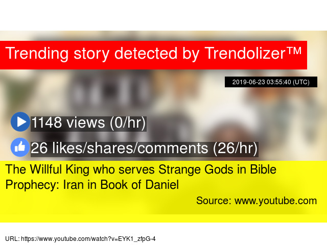 The Willful King who serves Strange Gods in Bible Prophecy