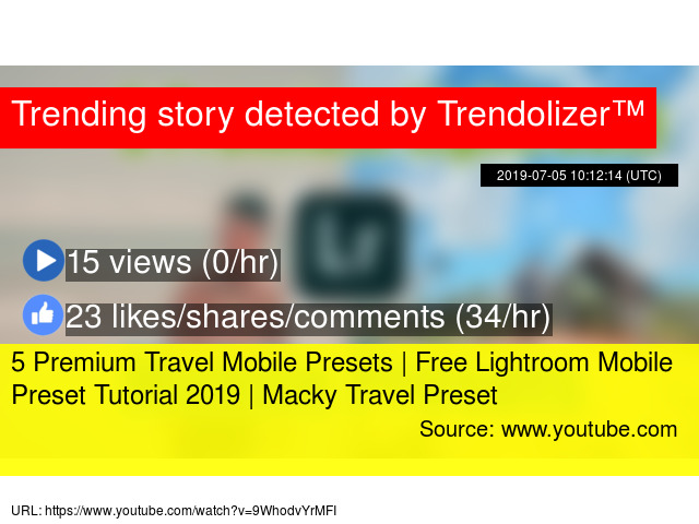 5 Premium Travel Mobile Presets | Free Lightroom Mobile