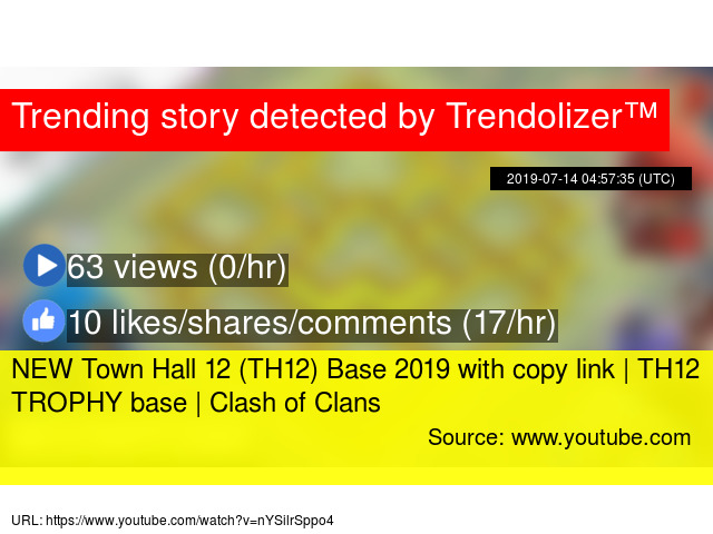 NEW Town Hall 12 (TH12) Base 2019 with copy link | TH12