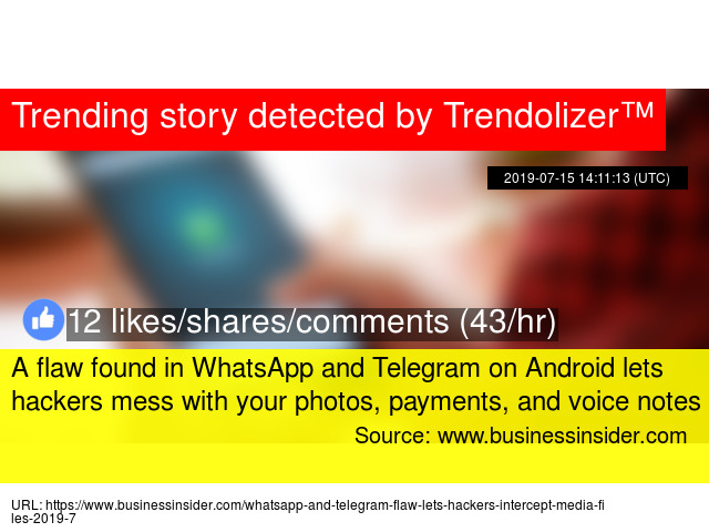 A flaw found in WhatsApp and Telegram on Android lets