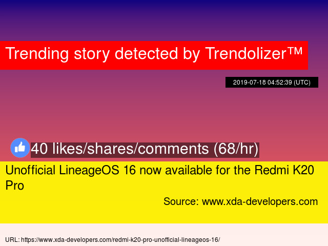 Unofficial LineageOS 16 now available for the Redmi K20 Pro