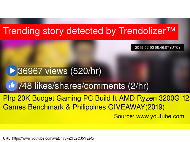 Php 20K Budget Gaming PC Build ft AMD Ryzen 3200G 12 Games