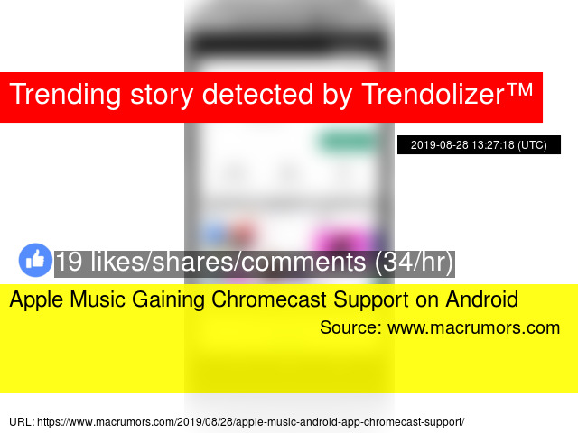 Apple Music Gaining Chromecast Support on Android
