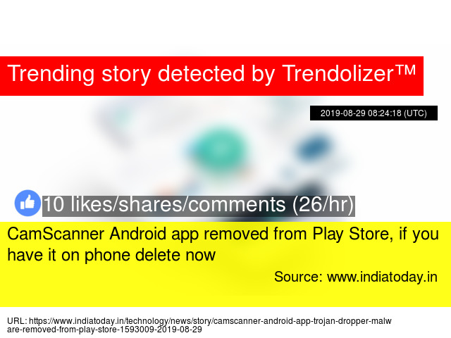 CamScanner Android app removed from Play Store, if you have