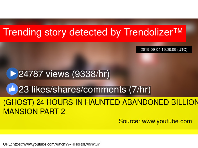 GHOST) 24 HOURS IN HAUNTED ABANDONED BILLIONAIRES MANSION PART 2