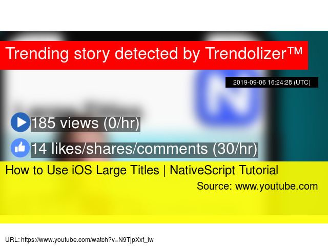 How to Use iOS Large Titles | NativeScript Tutorial