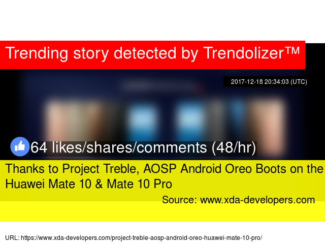 Thanks to Project Treble, AOSP Android Oreo Boots on the