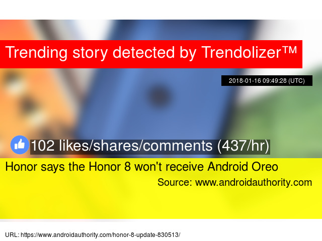 Honor says the Honor 8 won'