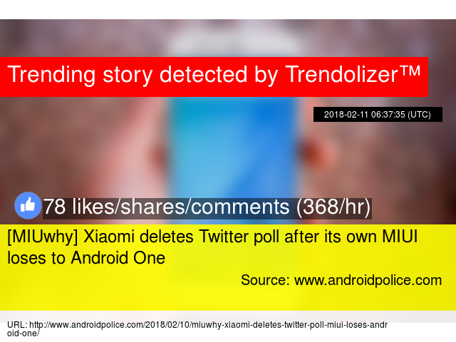 MIUwhy] Xiaomi deletes Twitter poll after its own MIUI loses