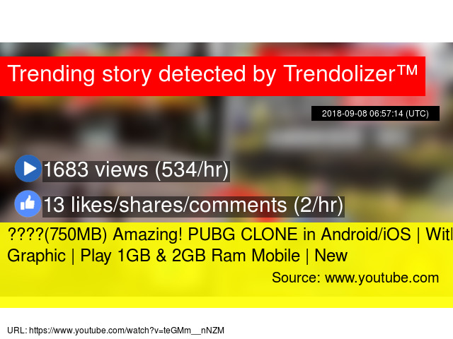 750MB) Amazing! PUBG CLONE in Android/iOS | With 4K Graphic | Play