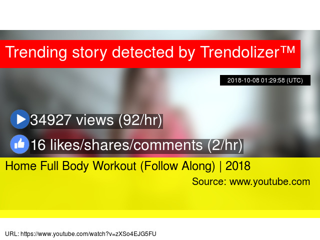 Home Full Body Workout (Follow Along) | 2018 - Stats